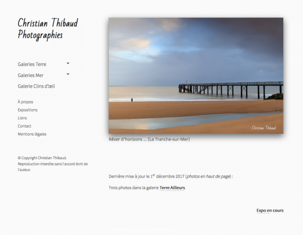 Site Christian Thibaud Photographies. Accueil